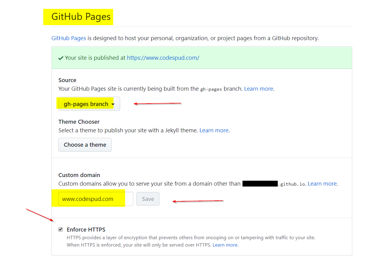 How to Use Custom Domains with Github Pages | CodeSpud
